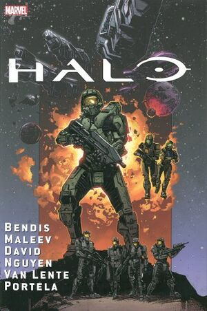 The cover artwork for the Halo: Oversized Collection.