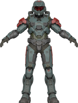 Front Image of the MK VII armor from OFFICIAL COSPLAY GUIDE: MARK VII.