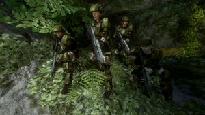 First squad as seen in Halo 3 level Sierra 117.