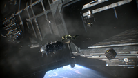Master Chief Collection - Chief with bomb in space.png