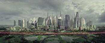 The bioweapon spreading beyond Sedra City from Halo: Nightfall.