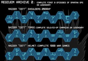 All Requiem Archive II codes.