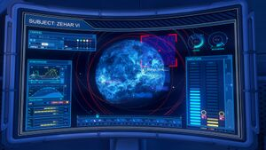 A view of the display screen in Halo 3 multiplayer map Waterfall in Halo: The Master Chief Collection.