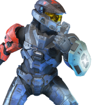 A Spartan-IV, wielding a Type-2 gravity hammer and holding a Repulsor in Halo Infinite multiplayer, as seen in the A New Generation trailer.