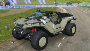 Right front-quarter view of the M12S Warthog CST in Forza Horizon 4.