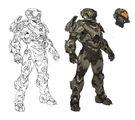 Halo 5 Guardians Concept Art recluse armor sketch.jpg