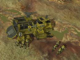 Recon Team India on the surface of Etran Harborage, as shown in Halo Wars level Anders' Signal.