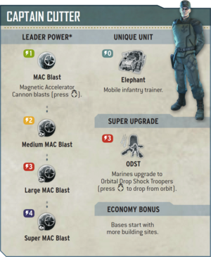 Overview of Cutter's abilities in Halo Wars.
