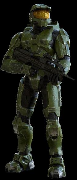 A full-body render of John-117 in Halo 2: Anniversary.