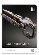 Suppressor REQ card in Halo 5: Guardians