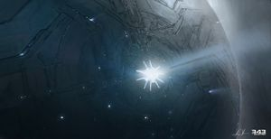 Concept art of the entrance to Requiem.