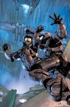 Issue 5 of Halo: Blood Line Cover art. Two Spartans are fighting one another off an edge.