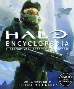 Cover of the updated edition of the Halo Encyclopedia. Note how the font differs from the original.