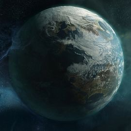 Official image of the Planet Reach from Bungie.net Halo: Reach wallpaper.