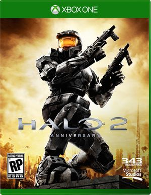 Halo 2 Anniversary cover art. Hardly the best resolution/quality but there aren't any high-res copies out there at this point in time.