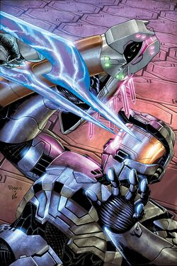 Issue 4 of Halo: Blood Line Cover art. A Spartan is pinned down with a Energy Sword being pointed towards them.