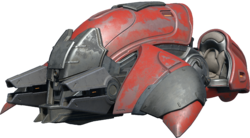 Transparent image of the Halo Infinite Banished Ghost.