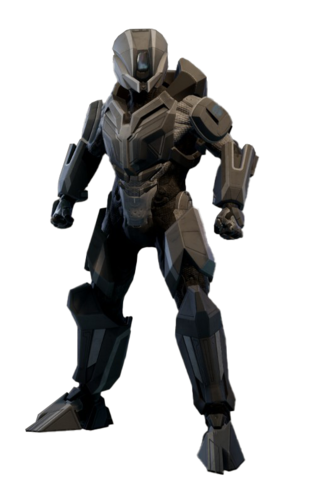 The Prefect armour as rendered in MCC.