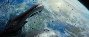 The Battle of Earth from Halo 2 Anniversary.