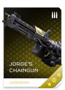 Jorge's Chaingun REQ card in Halo 5: Guardians