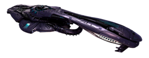 Art of an Varric-pattern heavy cruiser from the 2022 edition of the Halo Encyclopedia (2022 edition). Image from Canon Fodder #117.