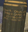 Screenshot of the label on the Type-B ordnance pod in Halo 2.