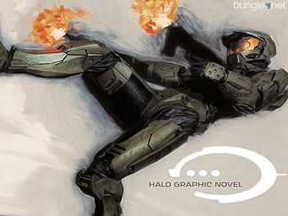 The work-in-progress of the cover for the Halo Graphic Novel.