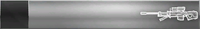 HTMCC Nameplate Silver Sniper Rifle