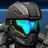 Halo 4 visor color - Cyan.