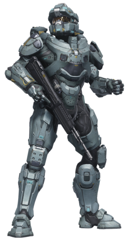 A render of Frederic-104 in Halo 5: Guardians.