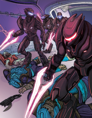 The crew of Rapid Conversion are slaughtered by members of the Silent Shadow in the wake of the Great Schism.