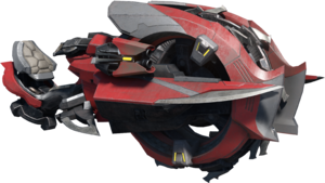 A transparent image of the Halo Infinite Banished Chopper
