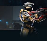 Render of a Spartan from Halo Infinite