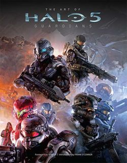 The cover of The Art of Halo 5: Guardians.