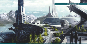 New Alexandria as seen in the Halo: Fleet Battles books