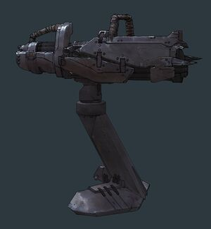 Concept art of the Scrap Cannon.