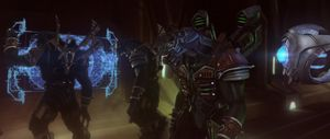 Final render of Sesa 'Refumee and his men in Halo 2: Anniversarys terminals.