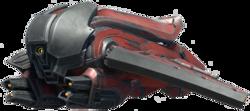 Transparent image of the Halo Infinite Banished Banshee
