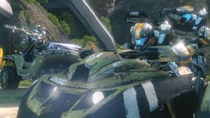 Spartan-IVs (including Gustavo Esposito) from Fireteam Forest in Apex during Requiem Campaign, as seen in Halo 4 Spartan Ops Episode 10 Exodus Chapter 3 Seize the Power.