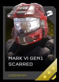H5G REQ Helmets Mark VI GEN1 Scarred Legendary
