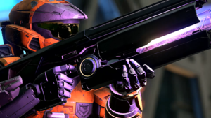 Screenshot from A New Generation of a mysterious weapon in Halo Infinite.