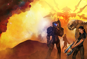 Full cover art of Halo: Legacy of Onyx.