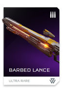 Barbed Lance REQ card in Halo 5: Guardians
