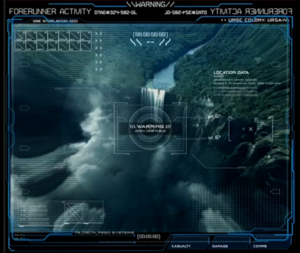 Holographic readout of Ursa IV created by Axis for the Halo 5: Guardians intro
