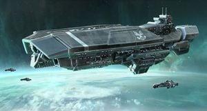 Halo Fleet Battles - Orion-class carrier.