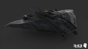 A model of a GA-TL1 Longsword for Halo 2: Anniversary.