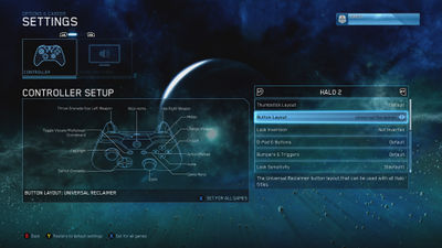 """Xbox controller layout """"Universal Reclaimer"""", for Halo: The Master Chief Collection."""