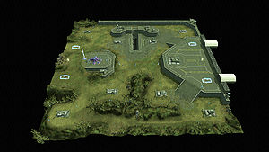 This is an overhead view of Fort Deen from the Halo Wars community site.