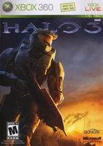 coverart of Halo 3 for the Xbox 360.