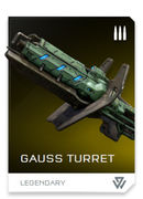Gauss Turret REQ card in Halo 5: Guardians